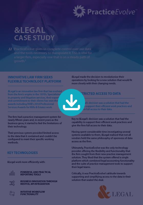 PracticeEvovle - Legal Practice Management Software - Case Study - &Legal